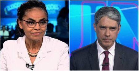 William Bonner e Marina Silva JN