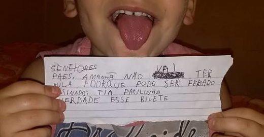 Mãe de menino que escreveu 'bilete' faz desabafo após críticas