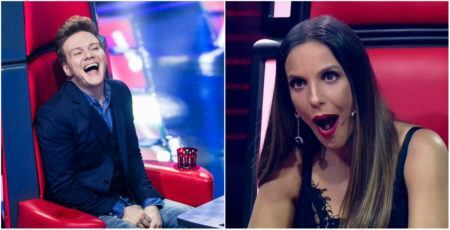 Michel Teló e Ivete Sangalo no The Voice Brasil