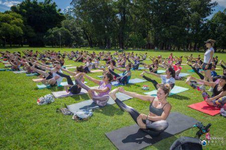 aula de yoga no Ibirapuera