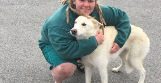 Cão ajuda a salvar jovem que caiu em rio congelante