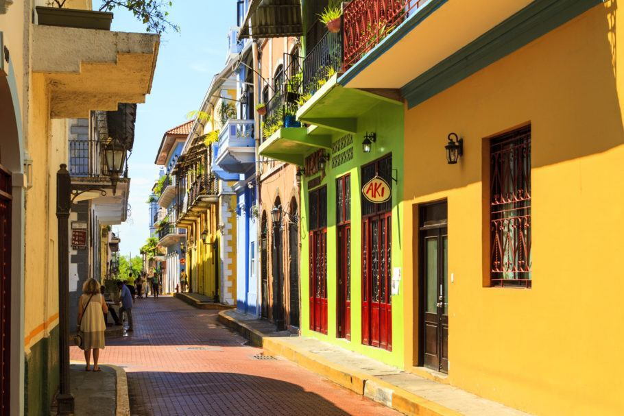 Rua em Casco Viejo, o centro antigo da Cidade do Panamá
