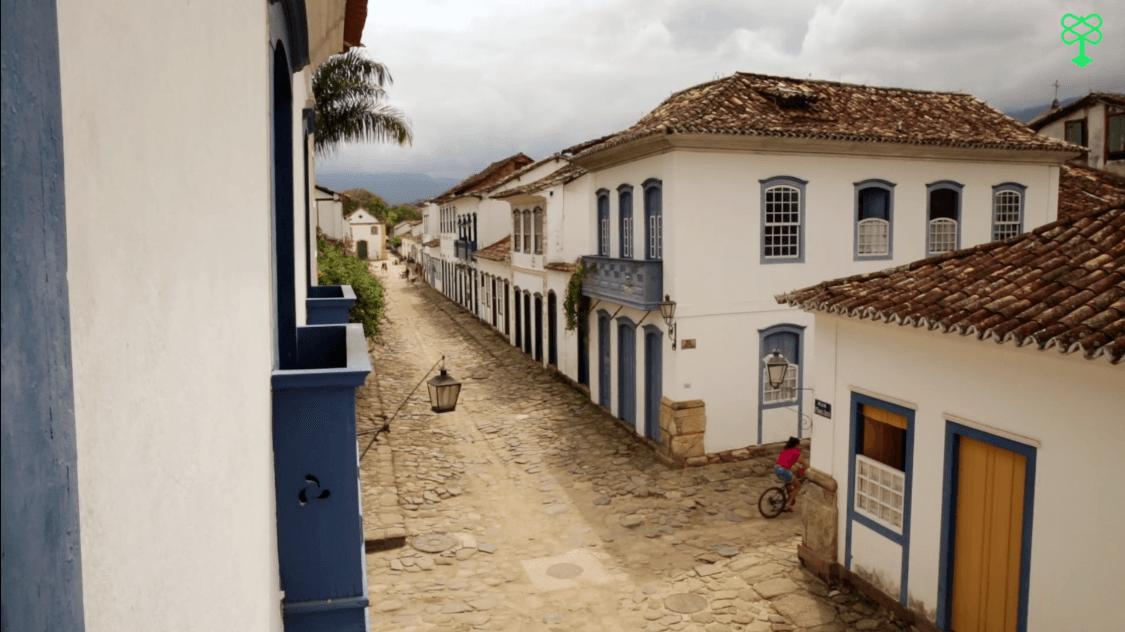 Vista do Centro Histórico de Paraty, no Rio de Janeiro