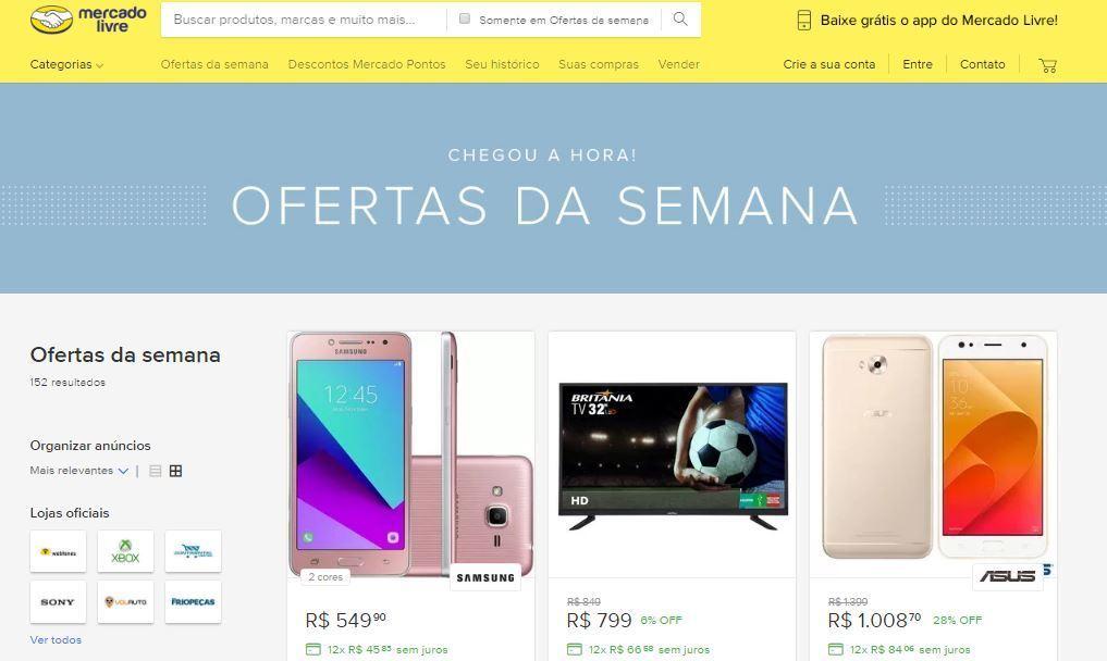 36055ae148b Crédito  reprodução   site Mercado LivreA cada segundo