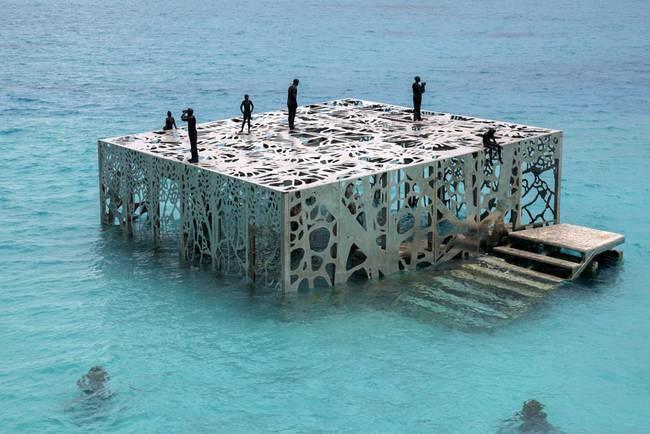 O recife artificial que é também a galeria de arte de Jason deCaires Taylor