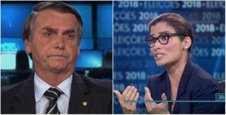 Renata Vasconcellos Jair Bolsonaro JN