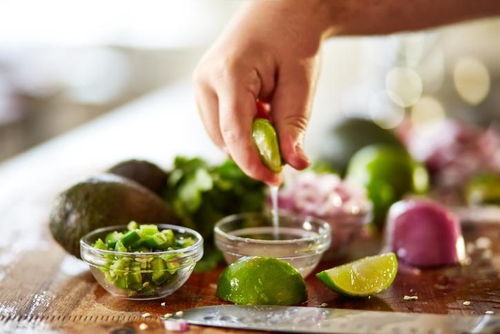 salada temperada com limão