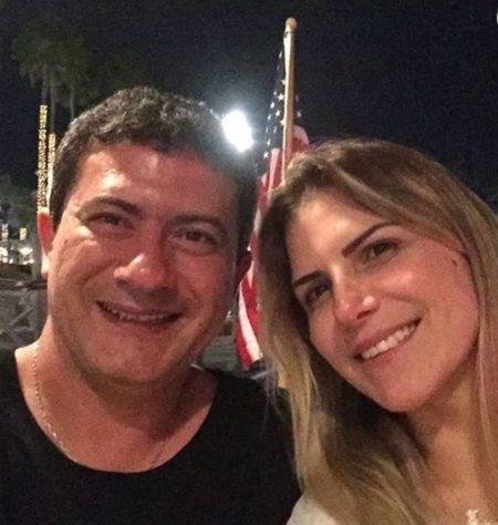 Tom Veiga, o Louro José, e a esposa, Alessandra Veiga