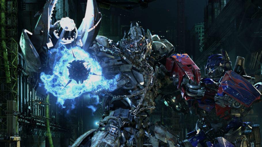 Detalhe da atração Transformers The Ride 3D
