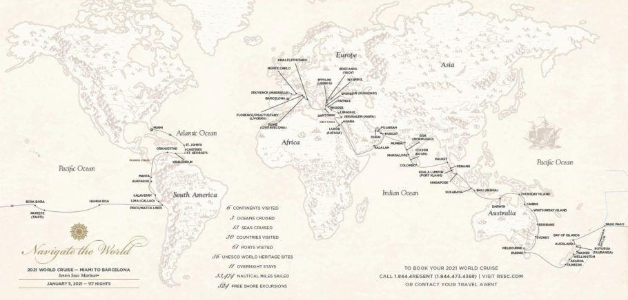 Viagem vai passar por 30 países, incluindo 56 locais considerados patrimônios da humanidade pela Unesco