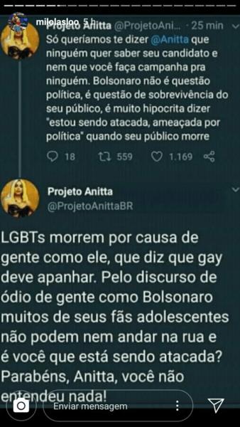 fãs anitta bolsonaro