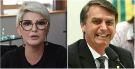 Antonia Fontenelle e Jair Bolsonaro