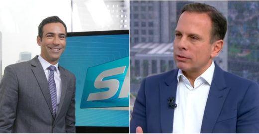 Cesar Tralli e João Doria entram em atrito em debate na Globo