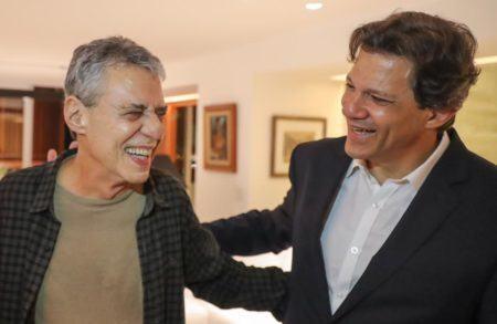 Chico Buarque e Fernando Haddad