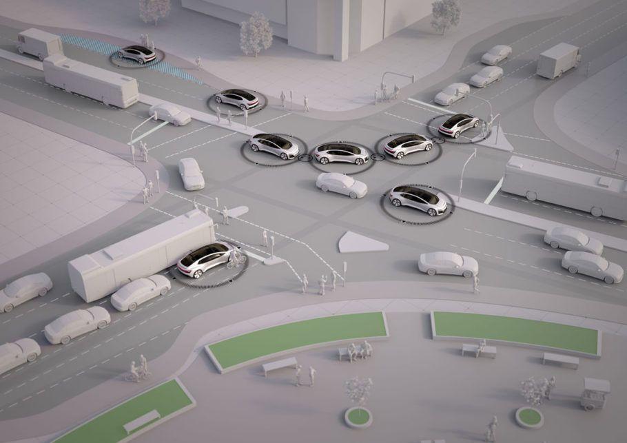 Na cidade inteligente, os carros são autônomos