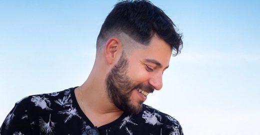 Evaristo Costa aparece de cabelo roxo e quebra a internet