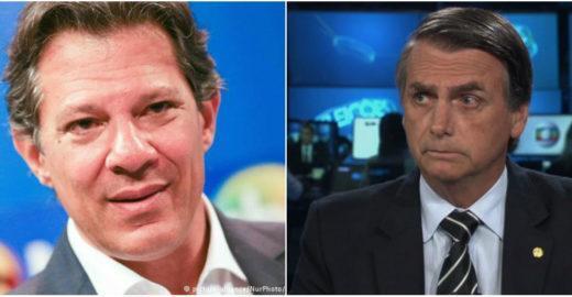 Haddad cresce e vence Bolsonaro no segundo turno, diz Ibope