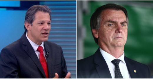 DataPoder: Bolsonaro e Haddad estão tecnicamente empatados