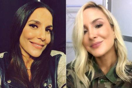 7cbaf6cf425cd Ivete Sangalo elogia Claudia Leitte e dá show de sororidade