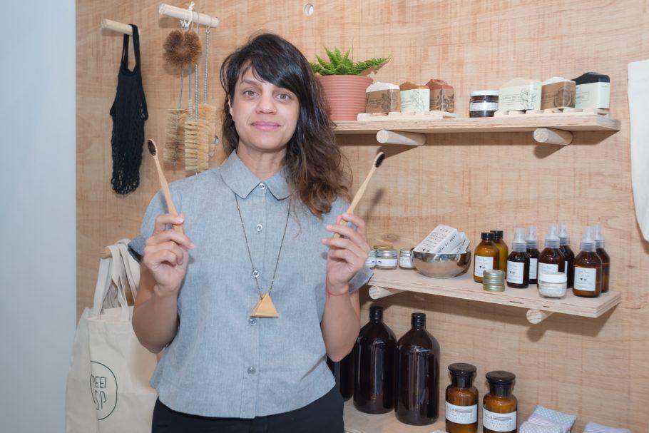 Lívia Humaire, empreendedora adepta do lixo zero