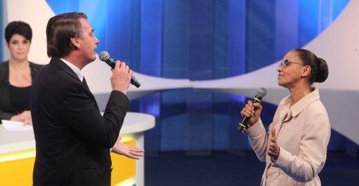 Marina Silva detona Jair Bolsonaro em debate da TV Aparecida
