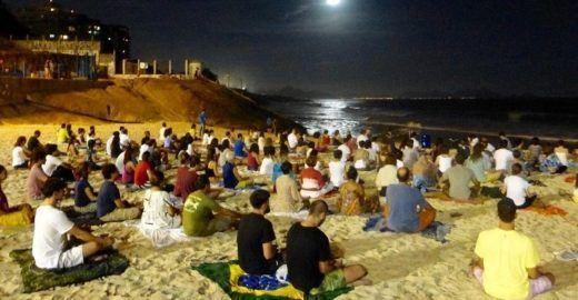 Meditação da Lua Cheia uma vez por mês e de graça no Rio