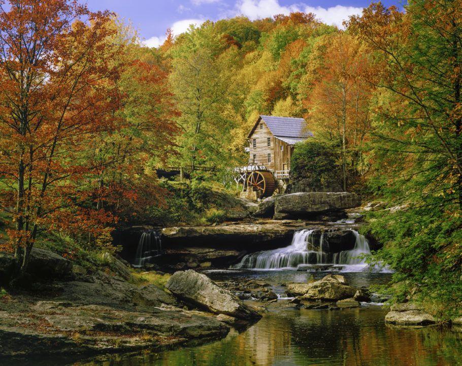 lade Creek Grist Mill nostalgia blazing autumn colors West Virginia