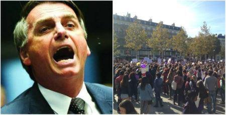 b70d4149fd Política desmistificada  Centenas protestam contra Bolsonaro pelo ...