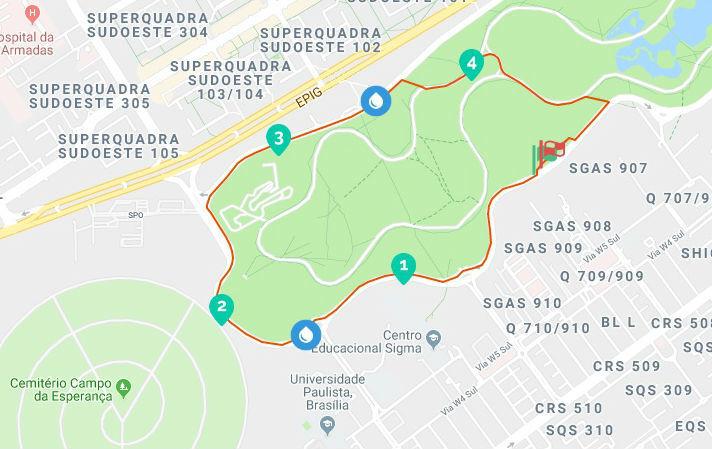 mapa corrida BSB