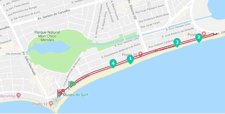 mapa corrida rio