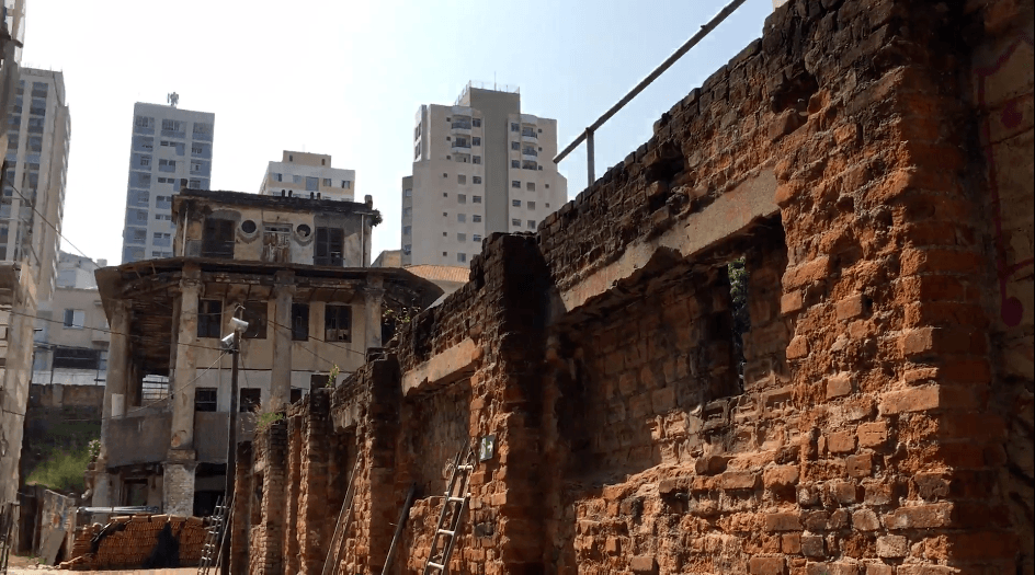 Canteiro de obras e restauro do condomínio histórico da Vila Itororó, na Bela Vista