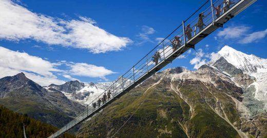 Conheça Charles Kuonen, a maior ponte pedonal suspensa do mundo