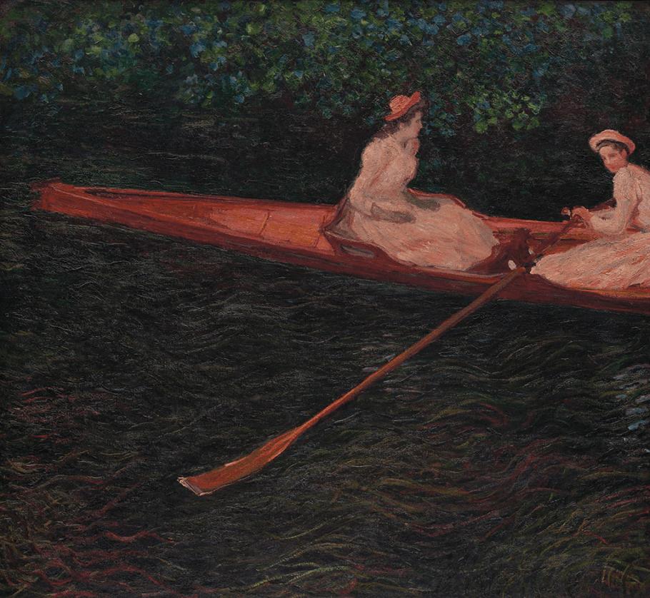"""Obra """"A Canoa Sobre Epte"""", de Claude Monet"""