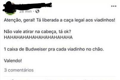 Eleitor de Bolsonaro oferece brinde para quem 'caçar viadinho'