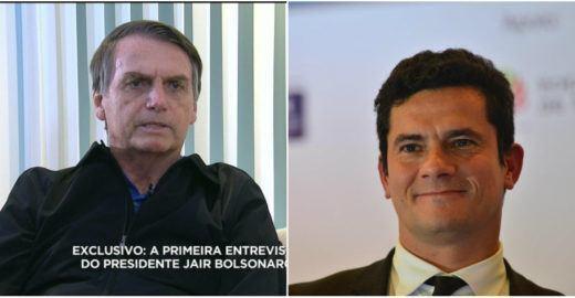 Bolsonaro afirma que quer Moro no Ministério da Justiça ou no STF
