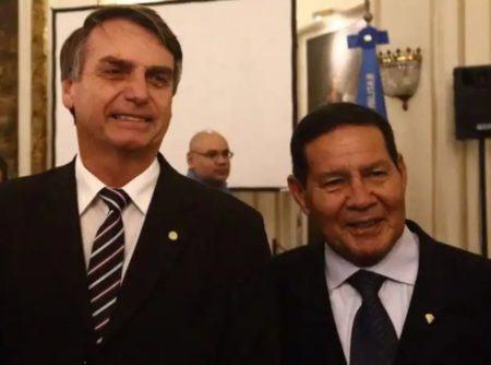 Jair Bolsonaro e o general Mourão