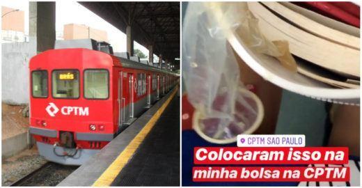 Jornalista encontra camisinha usada na bolsa após pegar o trem