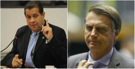 Carlos Lupi e Jair Bolsonaro