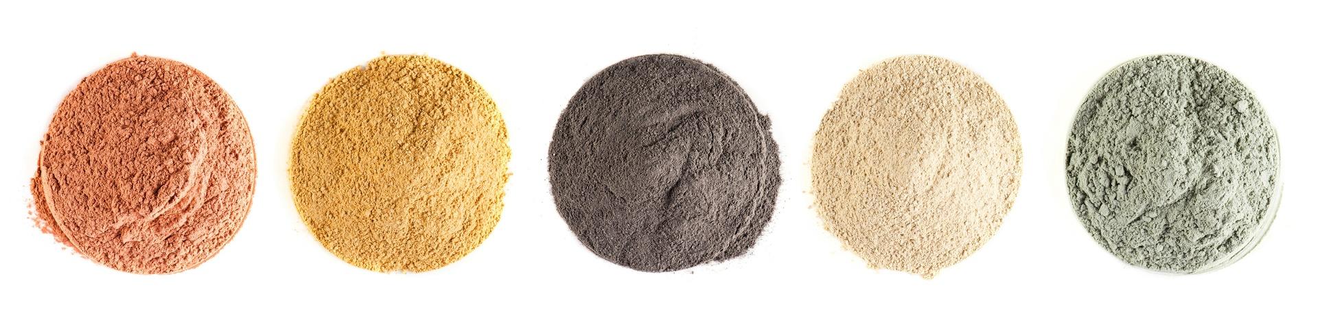 Tipos e cores de argila