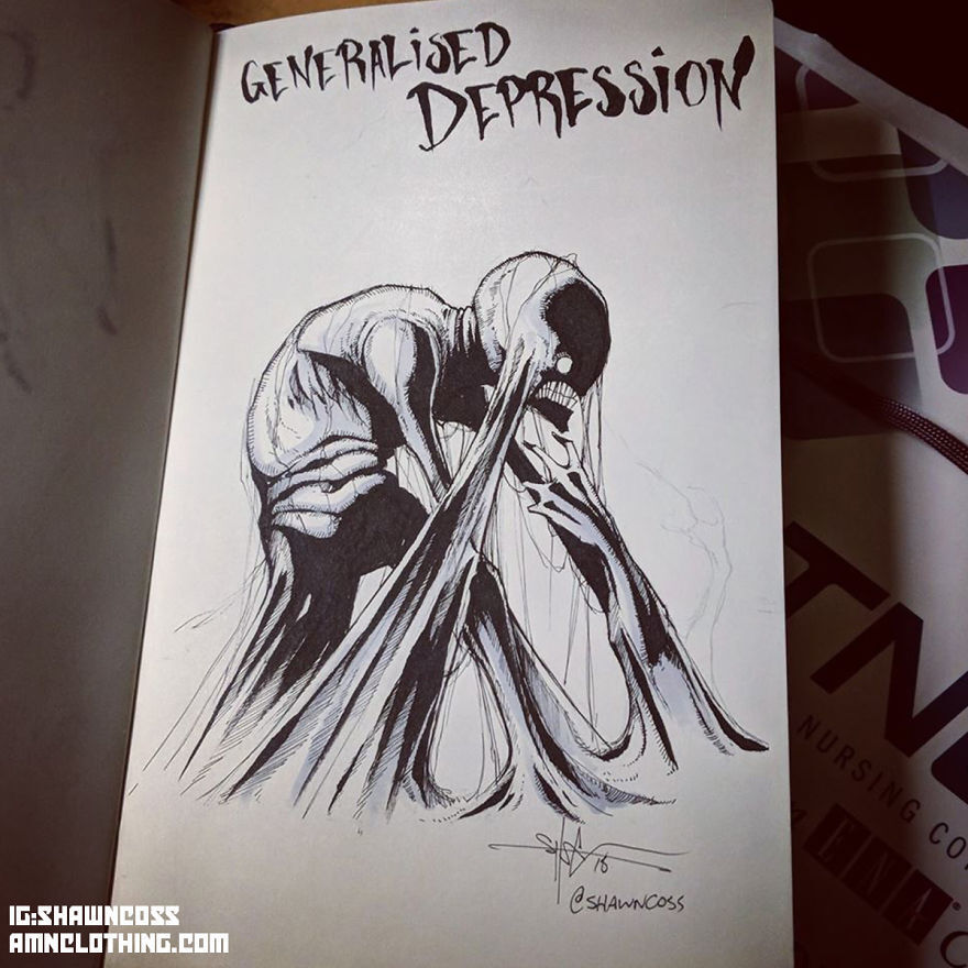 ilustração de ansiedade