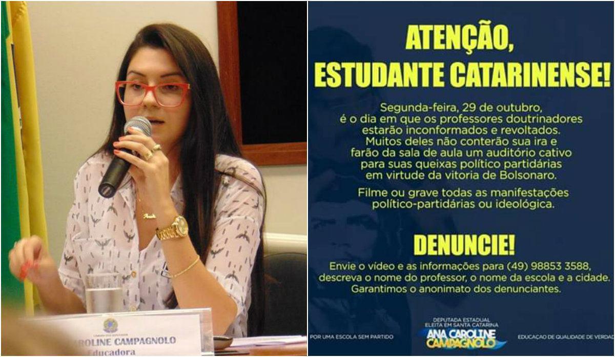 A deputada estadual Ana Caroline Campagnolo (PSL)