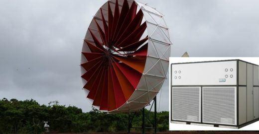 Gerador de água movido a vento usa hélices em forma de asa