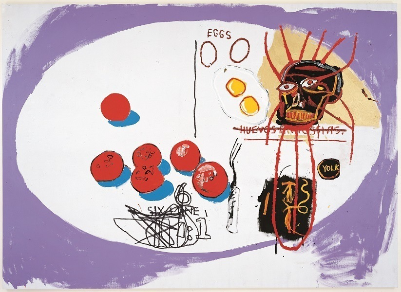 JEAN-MICHEL BASQUIAT e [and] ANDY WARHOL | Ovos [Eggs], 1985