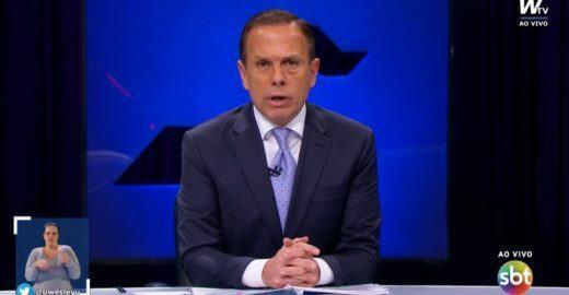 João Doria evita falar sobre suposto vídeo íntimo e não consegue