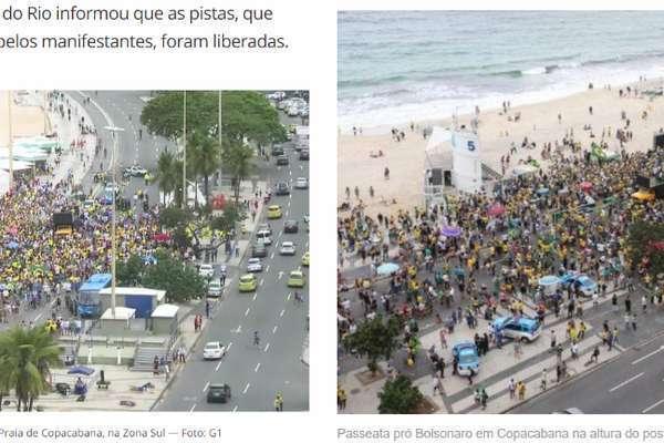 Manifestação pró-Bolsonaro em Copacabana, Rio de Janeiro