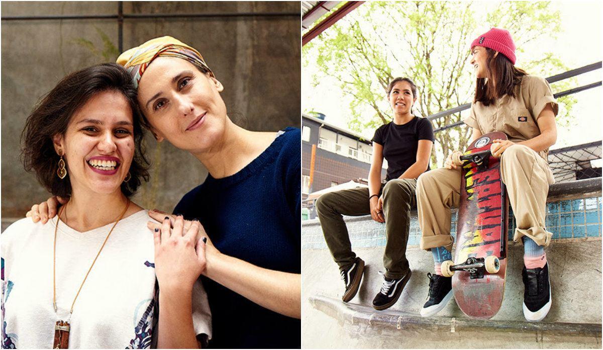 Paola Carosella e meninas que participam do projeto