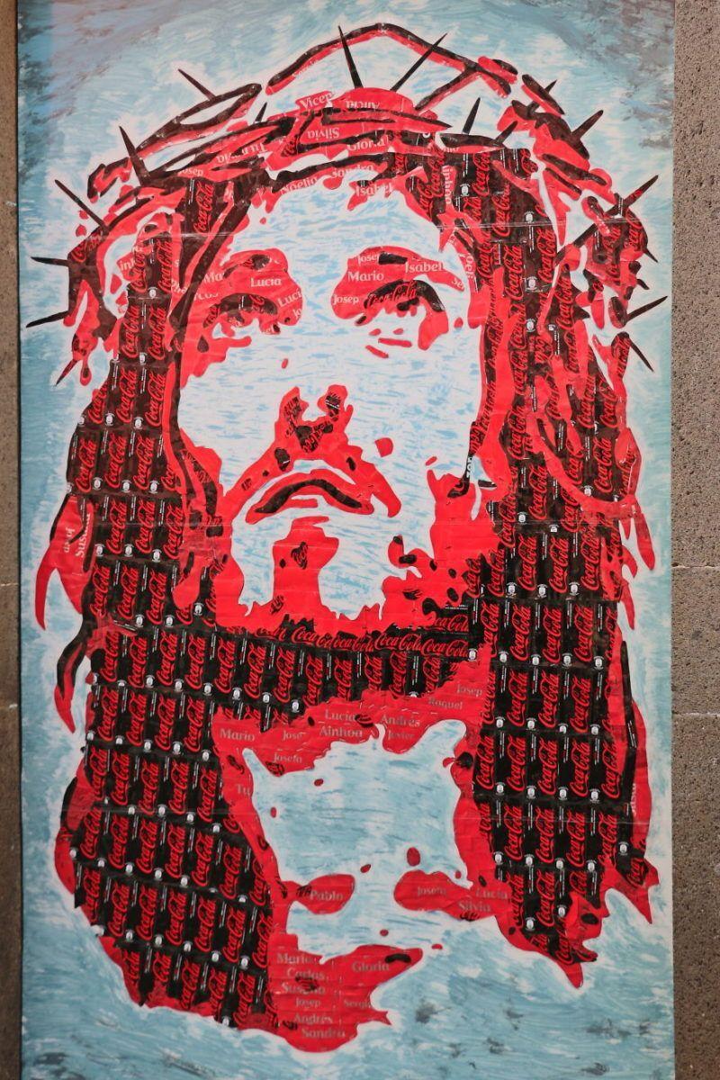 Imagem de Jesus na festa de São Pedro