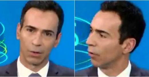 César Tralli é xingado no debate da Globo e causa na web