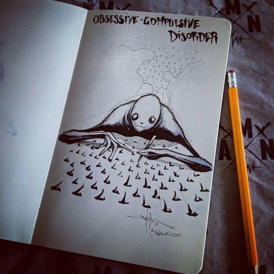 ilustração pessoa desenhando