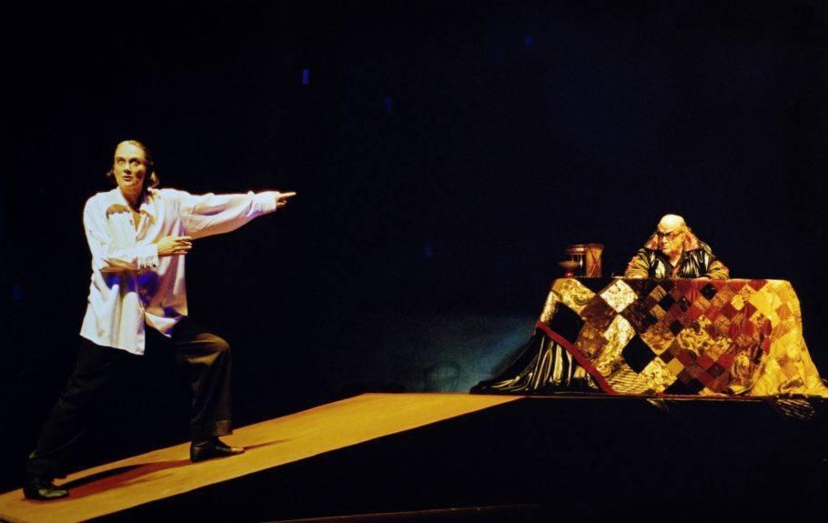 Antônio Abujamra na peça